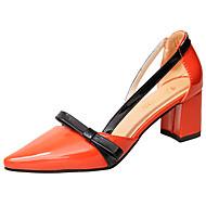 Damer Sko PU Sommer Komfort Sandaler Gang Lav hæl Åben Tå Spænde Til Sort Orange Beige
