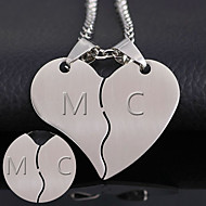The thickness of 1.2mm can be processed 316 heart-shaped titanium accessories Korean new couple combo stainless steel pendant