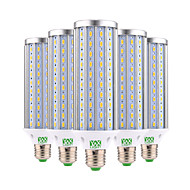 billige Kornpærer med LED-45W E26/E27 LED-kornpærer 140 leds SMD 5730 Dekorativ Varm hvit Kjølig hvit 4350-4450lm 2800-3200/6000-6500K AC 85-265V