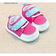 Genç Kız Düz Ayakkabılar İlk Adım Kumaş Bahar Sonbahar Günlük Yürüyüş İlk Adım Sihirli Bant Alçak Topuk Fuşya Kırmzı Açık Mavi Düz