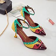お買い得  レディースハイヒール-女性用 靴 PUレザー 夏 コンフォートシューズ サンダル スティレットヒール レッド / グリーン / ブルー
