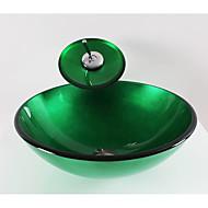 Modern Rond sink Materiaal is Gehard Glas Badkamer Wastafel