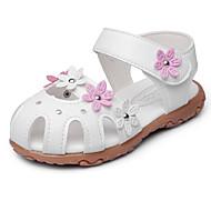 Tyttöjen kengät Tekonahka Kesä Syksy Sandaalit Ruseteilla Aplikointi Tarranauhalla Käyttötarkoitus Valkoinen Persikka Pinkki