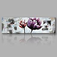 ieftine Reduceri-Pictat manual Floral/Botanic Orizontal,Modern/Contemporan Floare Art Deco/Retro Un Panou Canava Hang-pictate pictură în ulei For Pagina