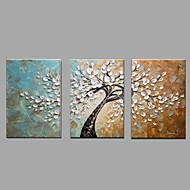 Hand-Painted Knife Tree Abstract Landscape Modern Oil Painting On Canvas With Stretcher Frame Ready To Hang