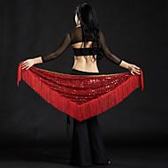 Dança do Ventre Lenços de Quadril para Dança do Ventre Mulheres Espetáculo Poliéster Lantejoulas Mocassim Xale de Dança do Ventre