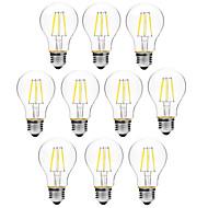 BRELONG® 10pcs 6W 450lm E27 مصابيحLED A60(A19) 6 الخرز LED COB تخفيت أبيض دافئ أبيض 200-240V