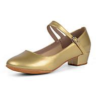 baratos Sapatilhas de Dança-Mulheres Sapatos de Dança Moderna Couro Envernizado Salto Salto Baixo Personalizável Sapatos de Dança Preto / Prata / Vermelho / Ensaio / Prática