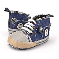 cheap Baby Shoes-Kid's Boys' Shoes Canvas Fall Winter First Walkers Sneakers Animal Print Lace-up for Casual Party & Evening Dress Blue