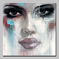billiga Människomålningar-mintura® handmålade abstrakta ansiktsoljemålning på duk modern väggkonst bild för heminredning redo att hänga