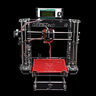 Geeetech i3b 3d printer usb gravure gebied 200 * 200 * 180mm abs pla transparant