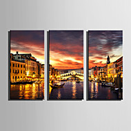 Maisema Moderni European Style,3 paneeli Kanvas Pystysuora Tulosta Art Wall Decor For Kodinsisustus