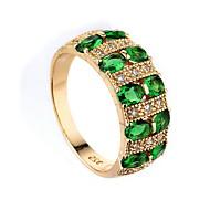 Dame Ring Syntetisk Emerald Unikt design Mode Euro-Amerikansk Zirkonium Legering Smykker Smykker Til Bryllup Speciel Lejlighed