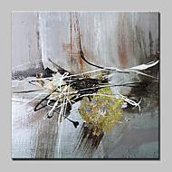 billiga Abstrakta målningar-Hang målad oljemålning HANDMÅLAD - Abstrakt Abstrakt Modern Duk