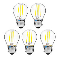 4W E27 フィラメントタイプLED電球 G45 4 COB 300 lm 温白色 ホワイト 2700-3500   6000-6500 K 調光可能 V