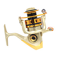 Fiskehjul Spinne-hjul 5.1:1 Gear Forhold+10 Kuglelejer ombyttelig Havfiskeri Fluefiskeri Madding Kastning Isfikeri Spinning Vippefiskeri