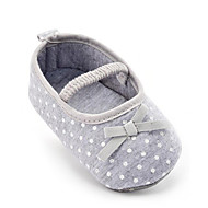 cheap Baby Shoes-Children's Baby Shoes Fabric Summer Fall First Walkers Loafers & Slip-Ons Bowknot Polka Dot for Casual Party & Evening Dress Gray
