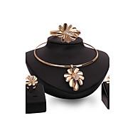 Dame Smykke Sæt Rhinsten Blomster Blomstret Mode Vintage Personaliseret Statement-smykker Bling bling Rhinsten Legering Blomstformet 1