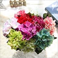 hesapli -5 şube İpek Ortancalar Masaüstü Çiçeği Yapay Çiçekler