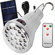 cheap LED Solar Lights-1W LED Solar Lights Easy Carrying Remote-Controlled Outdoor Camping & Hiking Cold White