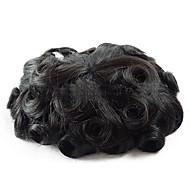 7x9 hieman aalto hiuslisäke miesten hiukset pala järjestelmä Intian hiukset miesten Peruukit hienoa mono peruukki korvaava
