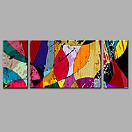 Maalattu AbstraktiMuoti 3 paneeli Hang-Painted öljymaalaus For Kodinsisustus