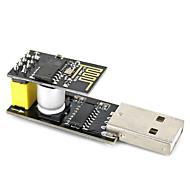 Usb na esp-01 adatper černý esp-01 esp8266 wi-fi bezdrátový modul
