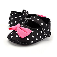 cheap Baby Shoes-Children's Baby Shoes Fabric Summer Fall First Walkers Loafers & Slip-Ons Bowknot Polka Dot for Casual Party & Evening Dress Black