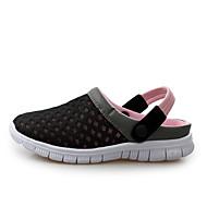 """יוניסקס סנדלים נוחות סוליות מוארות נעלי זוג טול קיץ סתיו יומיומי שחור כחול כהה אפור כהה ורוד ס""""מ 2.54 - ס""""מ 4.45"""