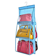 cheap Storage & Organization-Double-sided Six-layer Bag Hanging Bag Six Handbag Storage Finishing Bag Hanging Multi-layer Perspective Dust