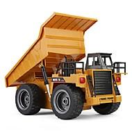 Fjernstyret bil HUINA 1540 6 Kanal 2.4G Lastbil Skraldevogn Entreprenørmaskiner 1:14 KM / H Fjernbetjening Genopladelig Elektrisk