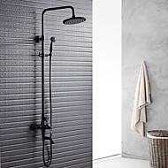 זול ברזים למקלחת-ברז למקלחת - קלסי ונצחי ברונזה ששופשפה בשמן מערכת למקלחת שסתום קרמי
