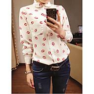 Majica Ženske,Seksi Slatko Rad Izlasci Ležerno/za svaki dan Geometrijski oblici-Dugih rukava Četvrtasti izrez Poliester