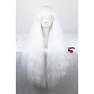 Naisten Synteettiset peruukit Suojuksettomat Kihara Valkoinen Cosplay-peruukki Lolita Wig puku Peruukit