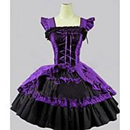 cheap Lolita Fashion Costumes-Sweet Lolita Dress Princess Satin Women's Girls' Dress Cosplay Cap Sleeveless Short / Mini