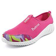 Mujer Zapatos Tul Primavera / Otoño Confort Zapatillas de Atletismo Running Tacón Plano Punta cerrada Negro / Beige / Fucsia RydVWH