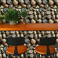 billige Tapet-Art Deco 3D Stein Tapet til Hjemmet Moderne Tapetsering , PVC/Vinyl Materiale Selvklebende bakgrunns , Tapet