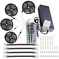 cheap Lighting Sale-20M(4*5M) 5050 RGB 600 LEDs Strip Lights 44Key IR Remote Controller Kit 12V 10A  Power Supply