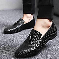 Men's Shoes Synthetic Fall Winter Loafers & Slip-Ons For Black Blue