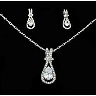 Sady šperků imitace drahokamu Rozkošný Štras Slitina Kapka 1 x náhrdelník 1 x pár náušnic Pro Svatební Párty Narozeniny 1 setSvatební