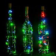 billige Bestelgere-1pc Vinflaske Stopper LED Night Light Varm hvit Dekorasjon / Atmosfære Lampe