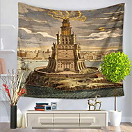 tanie Dekoracje ścienne-Architektura Dekoracja ścienna 100% Polyester Artystyczny Wzorzysty Wall Art, Ścienne Gobeliny Dekoracja
