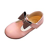 cheap Girls' Shoes-Girls' Shoes Leatherette Summer Fall Loafers & Slip-Ons Walking Shoes Bowknot for Black Gray Pink