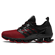 Running Shoes Men's Athletic Shoes Novelty Suede Tulle Spring Summer Athletic Casual  Novelty Flat Heel Black Black/Red Black/Green Flat