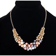 Dámské Náhrdelníky s přívěšky Řetízky Imitace perly Napodobenina perel Šedivá perla Zlatá perla Slitina Jedinečný design Perla přátelství
