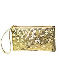 baratos Clutches & Bolsas de Noite-Mulheres Bolsas PU Porta Moedas para Natal / Casamento / Aniversário Prata / Roxo / Dourado Claro
