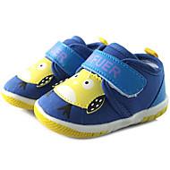 Bebek Ayakkabı Kanvas Bahar Sonbahar İlk Adım Düz Ayakkabılar Yürüyüş Alçak Topuk Yuvarlak Uçlu Sihirli Bant Uyumluluk Günlük Mavi