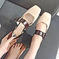 hesapli -Kadın Ayakkabı PU Bahar Yaz Rahat Mokasen & Bağcıksız Ayakkabılar Düşük Topuk Günlük için Yeşil Badem