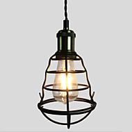 billige Takbelysning og vifter-vintage svart metall bur loft mini anheng lys stue stue spisestue hall kafé barer lysarmatur
