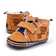 Gyermek Baba Tornacipők Első cipő Tüll Ősz Tél Hétköznapi Ruha Party és Estélyi Első cipő Gyöngydíszítés Gomb Tépőzár LaposBarna